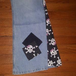 Custom Made LEI Sugar Skull Jeans